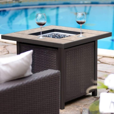 Bali Outdoors Propane Gas Fire Table