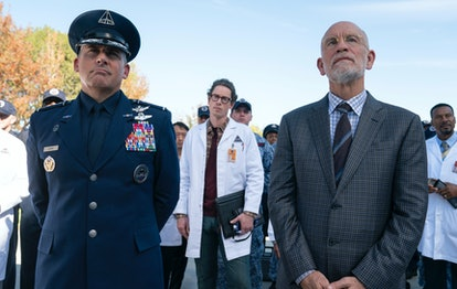 STEVE CARELL as GENERAL NAIRD and JOHN MALKOVICH as DR. ADRIAN MALLORY in SPACE FORCE