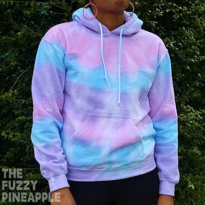 TheFuzzyPinapple Pastel Rainbow Hoodie Sweatshirt