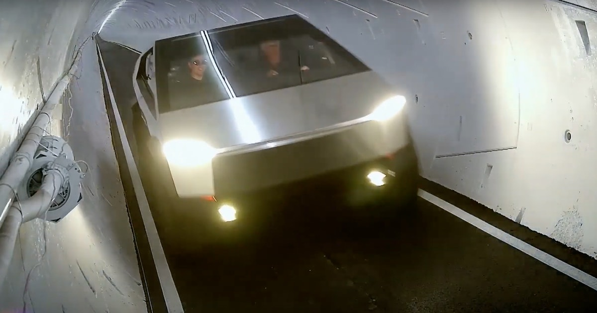 The Boring Company: video shows Tesla Cybertruck navigating tweaked tunnel