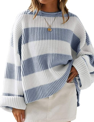 LEANI Oversized Chunky Knit Pullover
