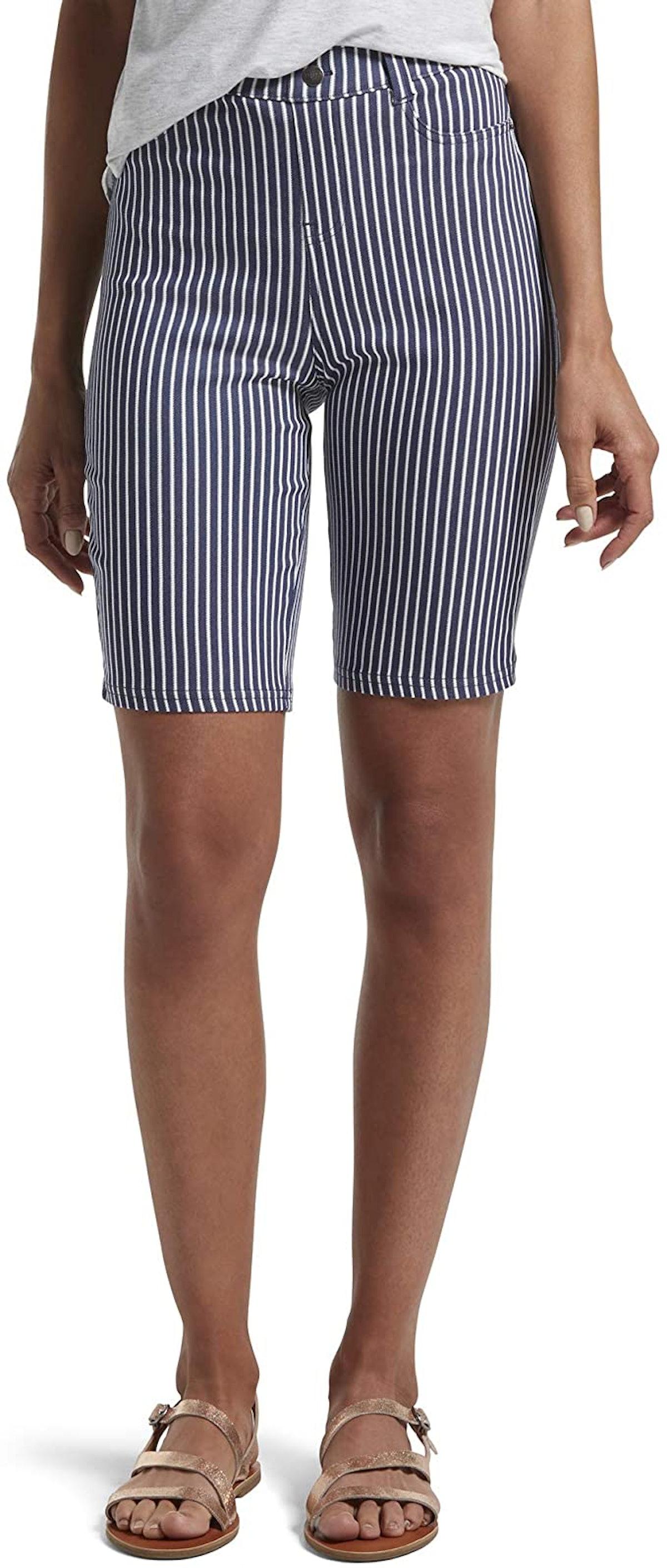 HUE Ultra Soft High Waist Bermuda Shorts