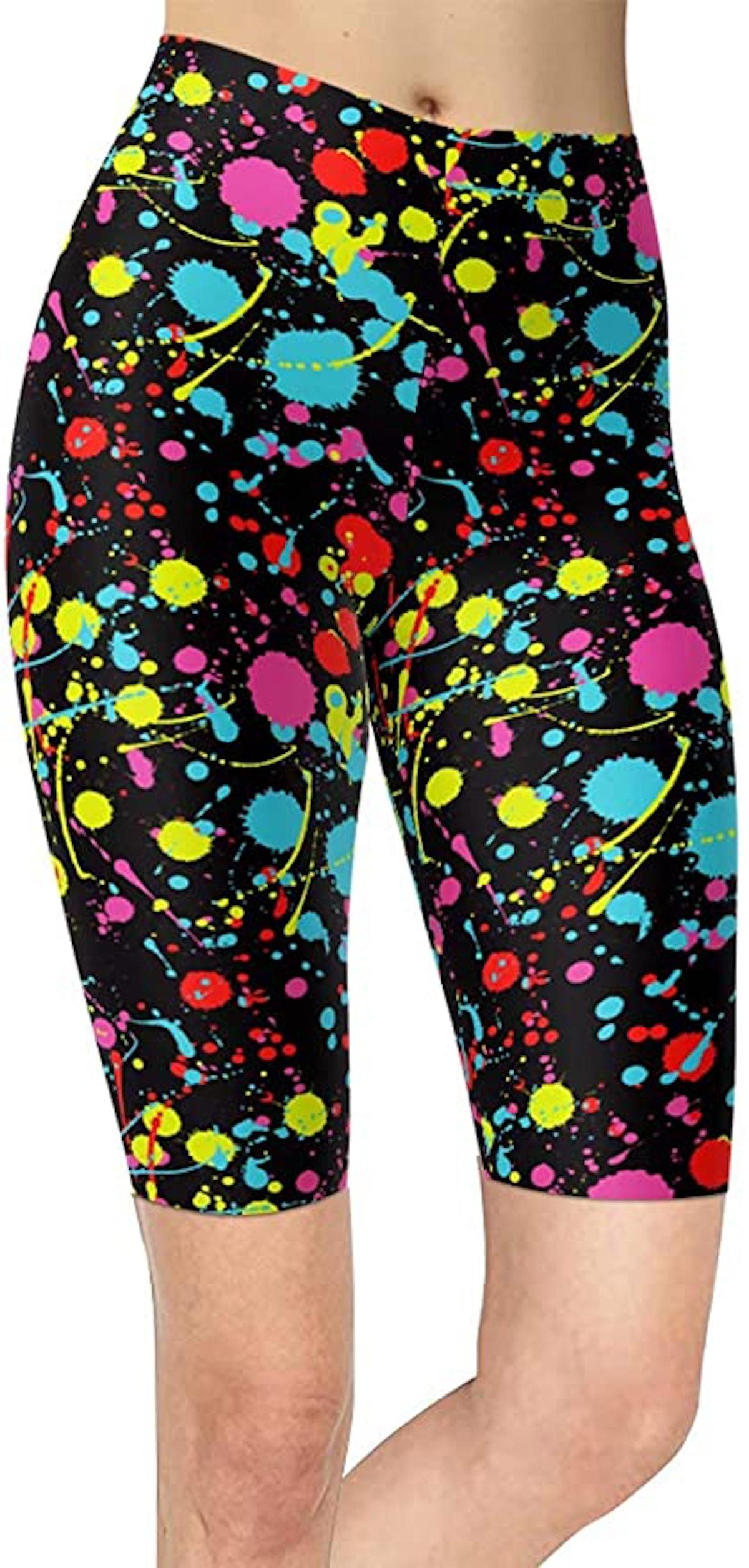 Sissycos Artistic Splash Printed Biker Shorts