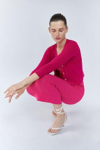 Seam Detail Knit Cardigan