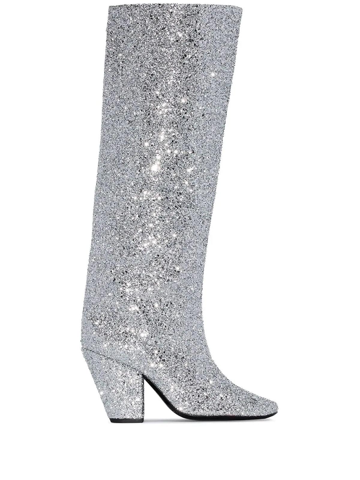 Glitter-Effect 100mm Boots