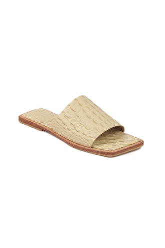 Yoke Flats Cream Croc