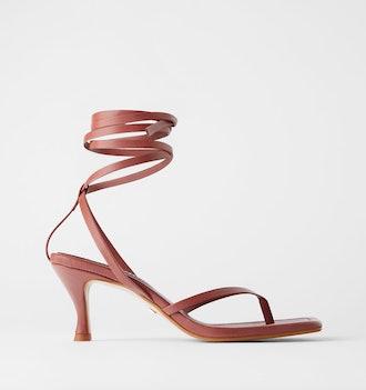 Heeled Square Toe Sandals