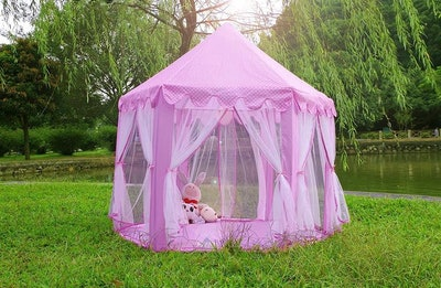 SqureXD Pink Play Tent with Star Lights