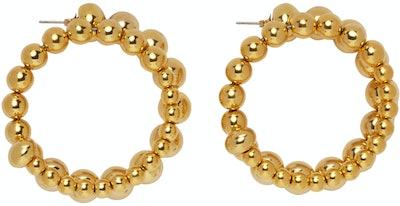 Gold Ram Hoop Earrings
