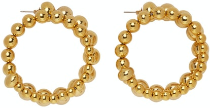Gold Ram Hoop Earrings