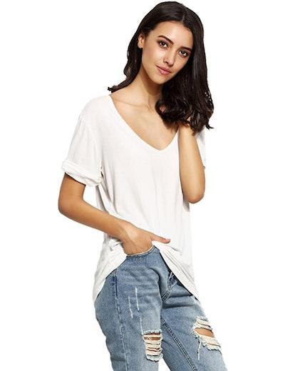 SheIn Short Sleeve Loose Casual T-Shirt