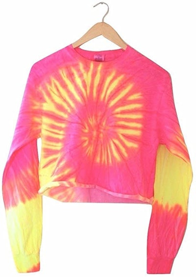 Era of Artists, LLC Tropical Tie-Dye Cropped Pullover