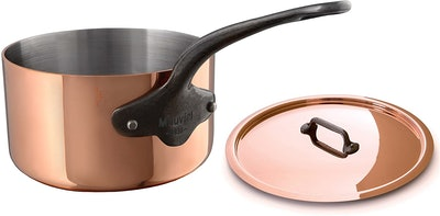 Mauviel M'Heritage Copper Saucepan with Lid (2.5mm)