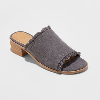 Dion Raw Edge Ankle Strap Sandals