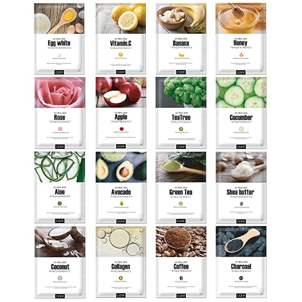 the COS.W FOR BETTER SKIN Store Green Grade Cupra Facial Sheet Masks (16 Pack)