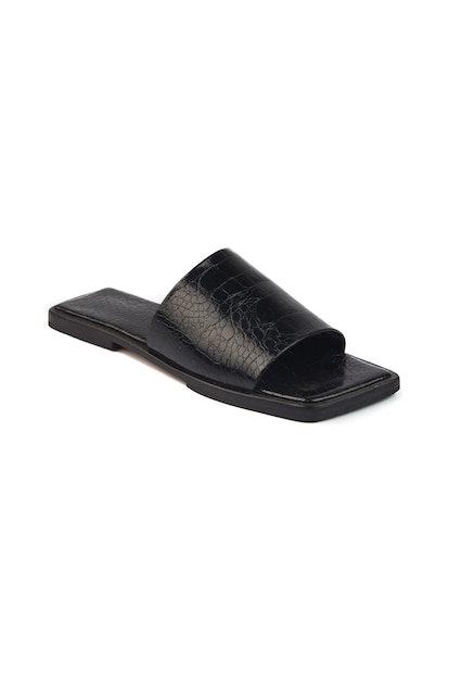 Yoke Flats Black Croc