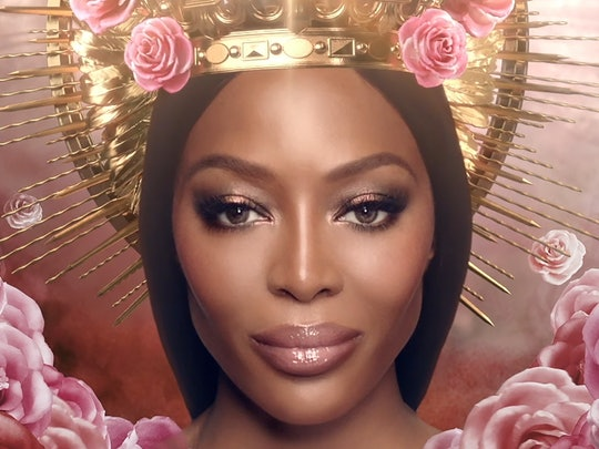 Naomi Campbell, the face of Pat McGrath Labs DIVINE ROSE collection campaign.
