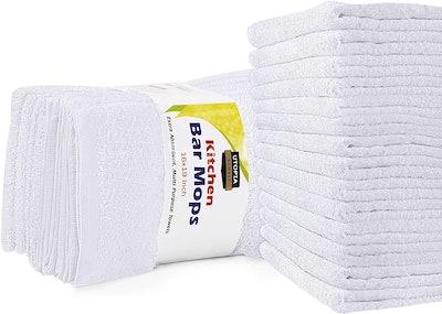 Utopia Towels Kitchen Bar Mops Towels (12-Pack)