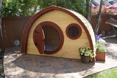 Little Merry Hobbit Hole Wooden House