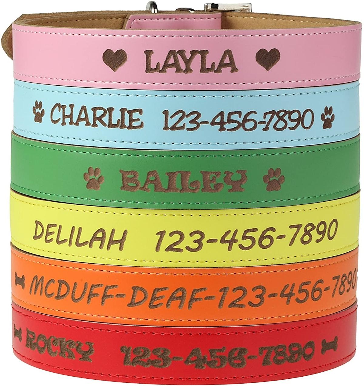 Custom Catch Personalized Dog Collar