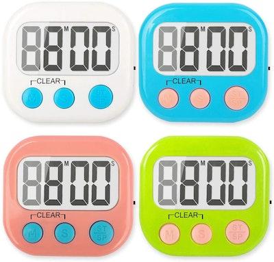 WUTL Digital Kitchen Timer (4-Pack)