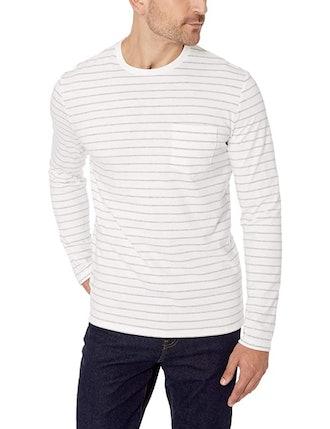 Amazon Essentials Slim-Fit Long-Sleeve Pocket T-Shirt