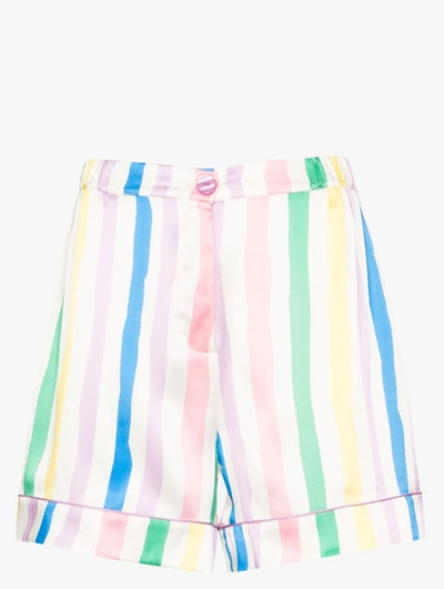 Victor Striped Silk Shorts