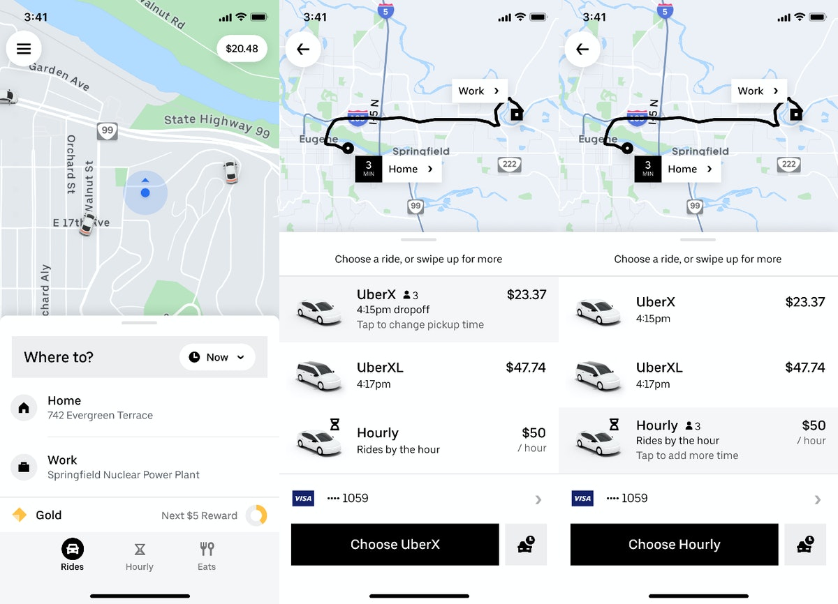 Uber's new hourly ride option lets you take multiple trips for a flat price.