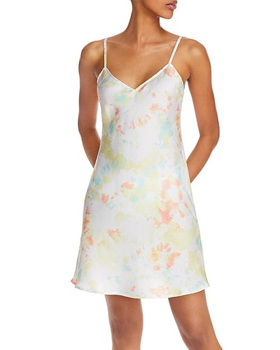 French Connection Satin Tie-Dyed Dress