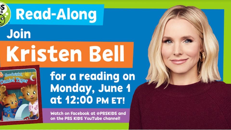 Kristen Bell will read children's books for PBS.