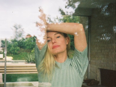 Kate Bosworth shot by a window during quarantine