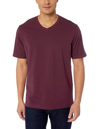 Amazon Essentials Loose-Fit Short-Sleeve V-Neck T-Shirt (2-Pack)