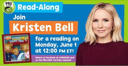 Kristen Bell will read 'Goodnight, Daniel Tiger' to kids through PBS 'Read-Along' series.