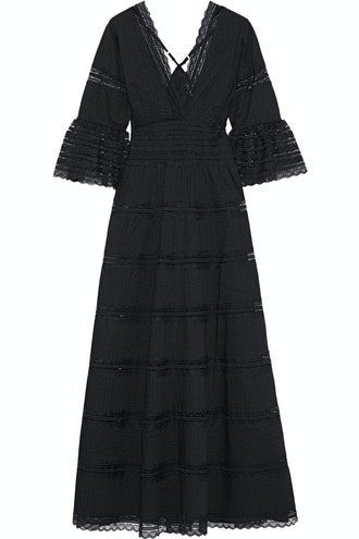 Mary Pintucked Cotton Maxi Dress
