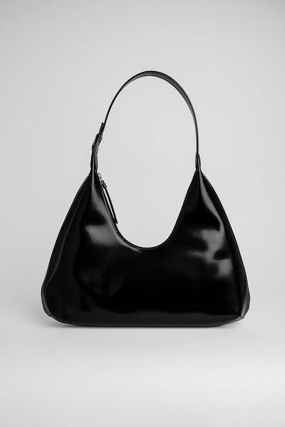 Amber Black Semi Patent Leather