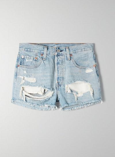 501 Original Mid-Rise Denim Shorts
