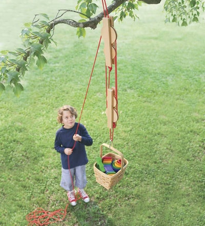 Pulley Set With Nylon Rope