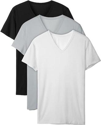DAVID ARCHY Bamboo Rayon Undershirts (3-Pack)