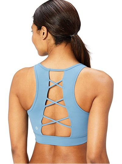 Core 10 Lattice Back Longline Yoga Sports Bra