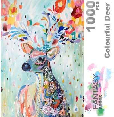 Ingooood Colorful Deer Jigsaw Puzzle