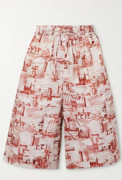 David Printed Twill Shorts