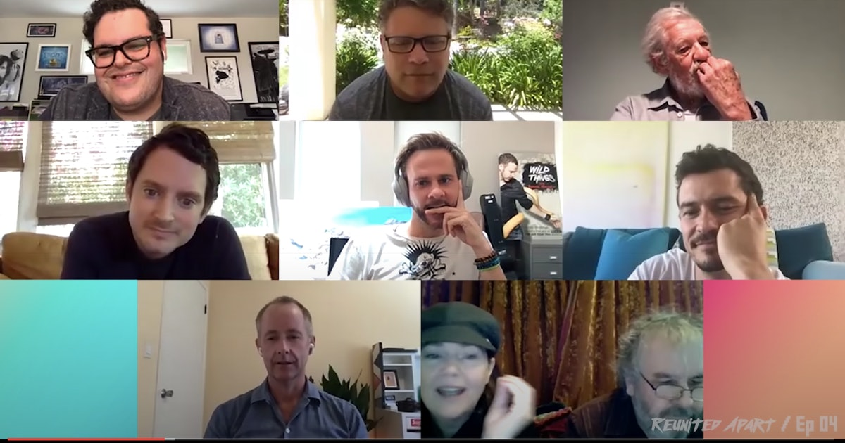 "The 'LOTR' Cast Reunited On Zoom To Remind Fans ""There's Some Good Left In This World"""