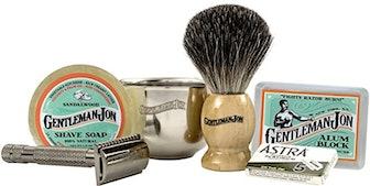Gentleman Jon Complete Wet Shave Kit (6 Pieces)