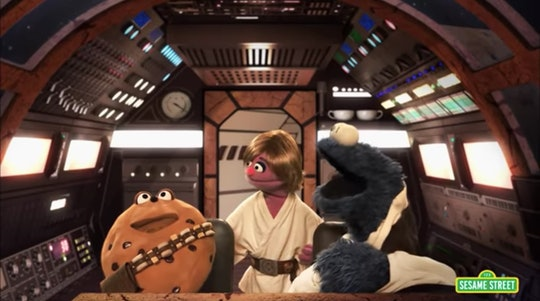 """Over the years, characters from """"Sesame Street"""" have collided or parodied characters from """"Star Wars"""" in at least three different episodes of the children's TV show."""