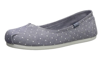 Skechers BOBS Women's Plush-Linen Back Ballet Flats