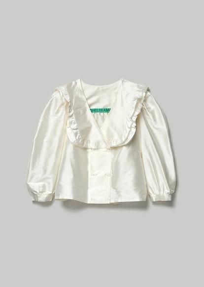 Vienna Frill Thai Silk Shirt