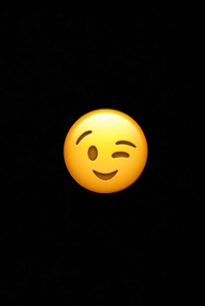 The winking face emoji may signal a joke, flirtation, hidden meaning, or general positivity.