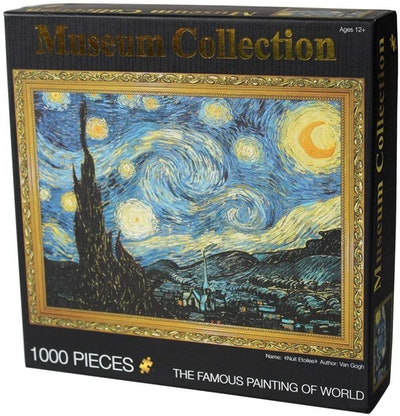 Moruska Starry Night by Vincent Van Gogh Jigsaw Puzzle