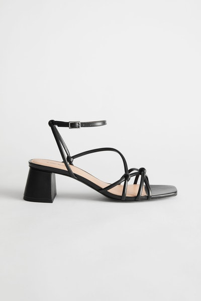 & Other Stories Strappy Leather Heeled Sandals
