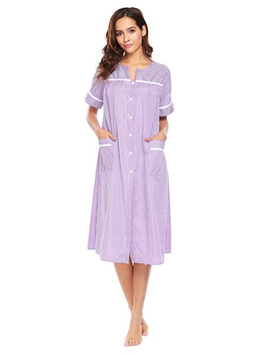Ekouaer Button Down Nightgown